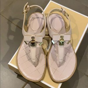 Michael Kors leather thong sandals